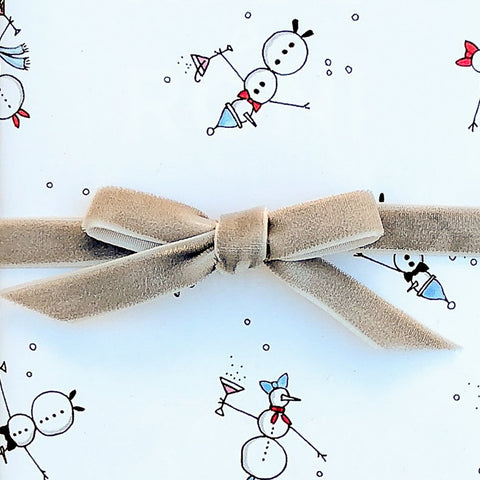"""SNOWMEN"" WRAPPING PAPER"