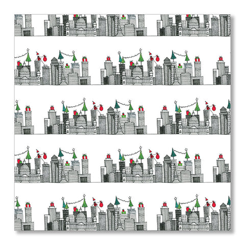 """HOLIDAY SKYLINE"" WRAPPING PAPER"