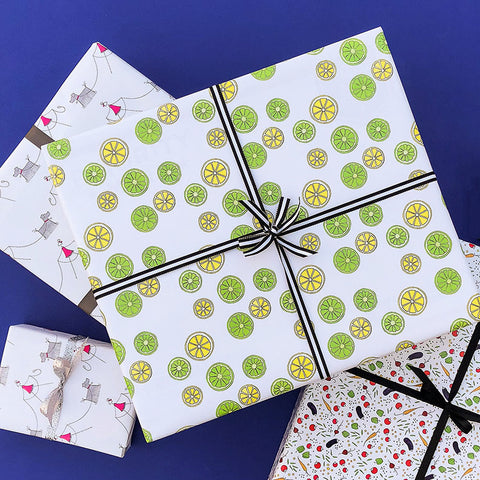 """LEMON LIME"" WRAPPING PAPER"