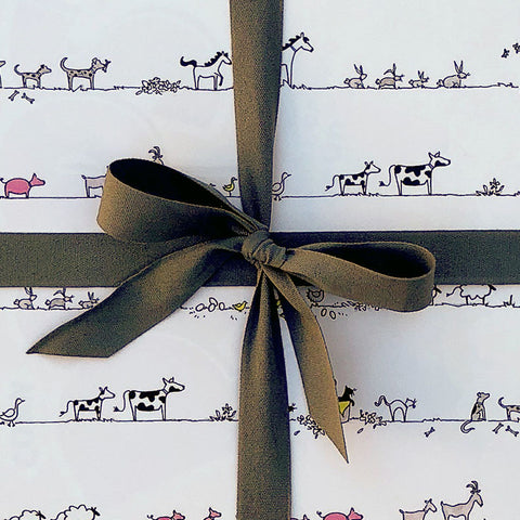 """BARNYARD FRIENDS"" WRAPPING PAPER"