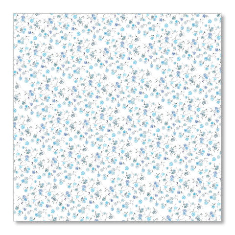 """BLUE FLORAL"" WRAPPING PAPER"