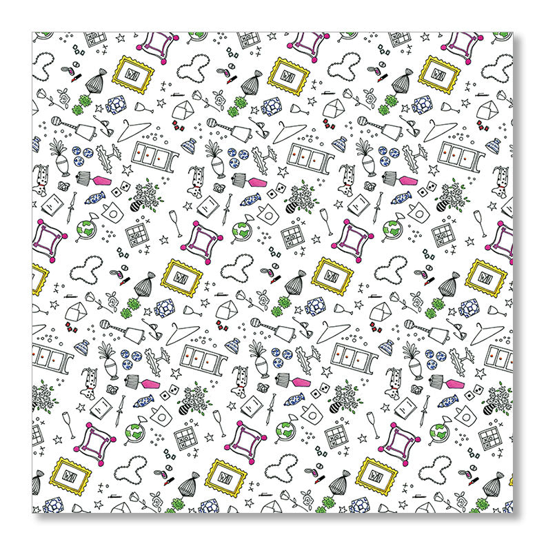 """BITS & BAUBLES"" WRAPPING PAPER"