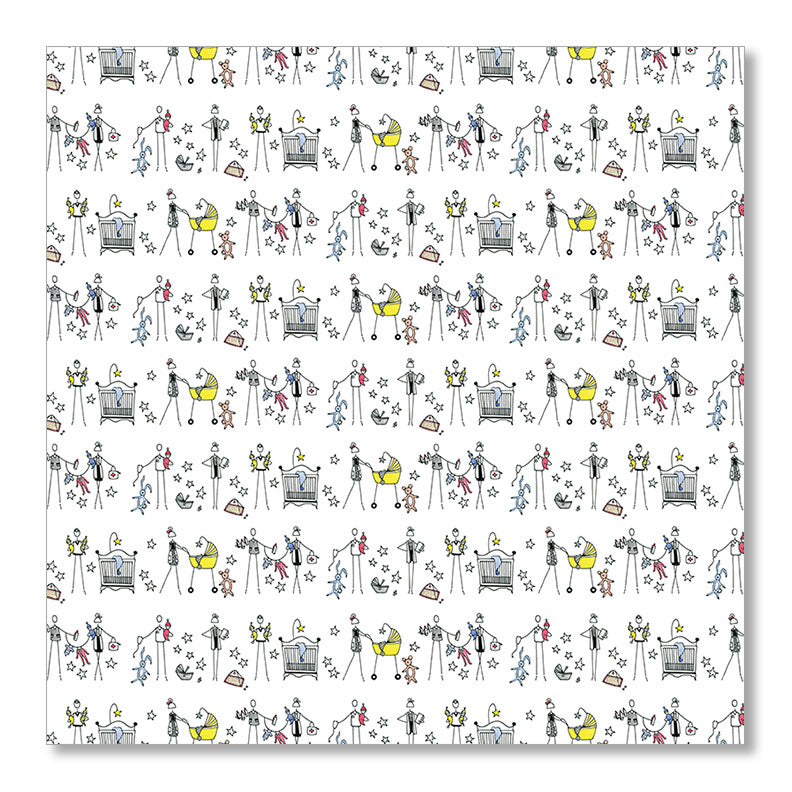 """BABIES & DOCTORS"" WRAPPING PAPER"
