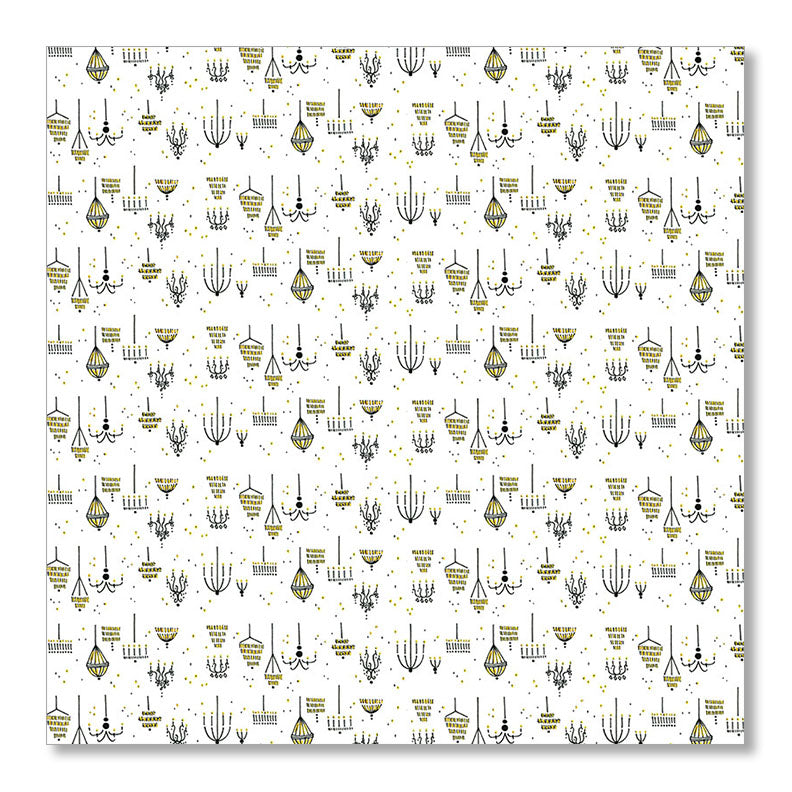 """CHANDELIER"" WRAPPING PAPER"