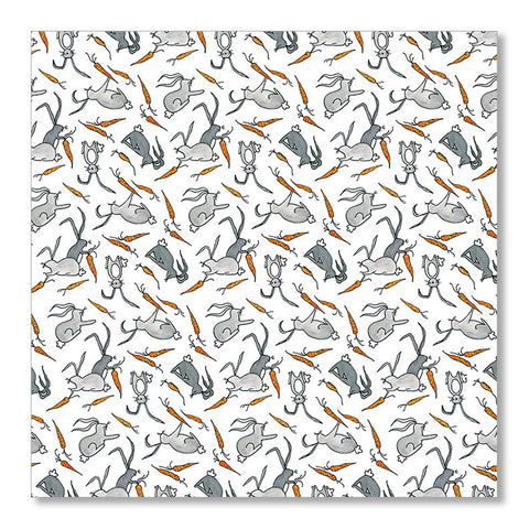 """CARROTS & BUNNIES"" WRAPPING PAPER"