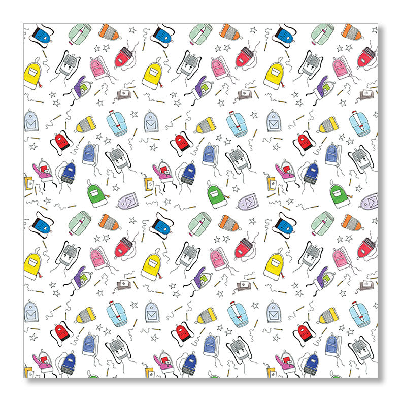 """BACKPACKS"" WRAPPING PAPER"