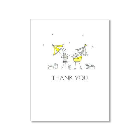 """YELLOW UMBRELLA"" THANK YOU CARD"