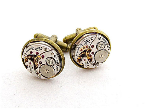 Steampunk cufflinks - Watch movements - Steampunk - Cuff Links