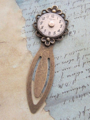 Steampunk Bookmark - Recycled - Upcycled - Vintage watch parts book marker - by SteampunkJunq