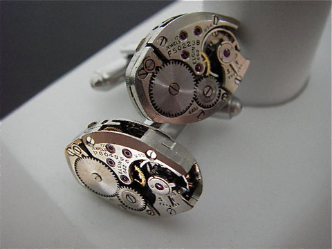 Steampunk Cufflinks - Elgin