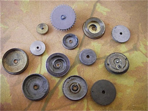 Vintage Antique Pocket Watch parts gears - 9X1