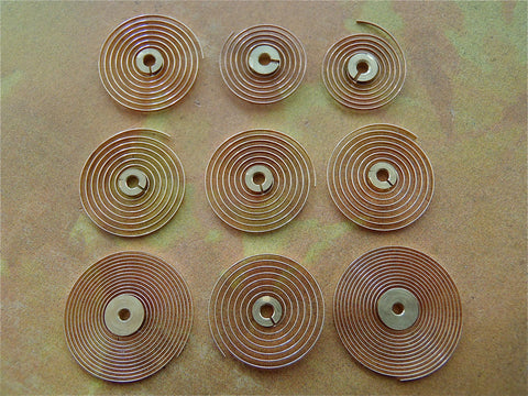 Vintage Antique Copper Clock parts springs  - 15D