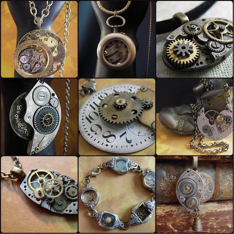 Steampunk Tutorial - How to Create Steampunk jewelry tutorial - Steampunk DVD - The art of Creating Steampunk Jewelry - DVD Set