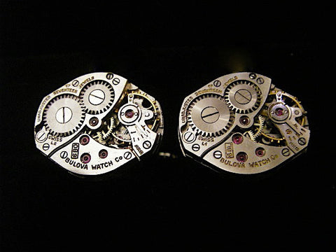 Steampunk Cufflinks - Industrious - Steampunk wedding- Cufflinks