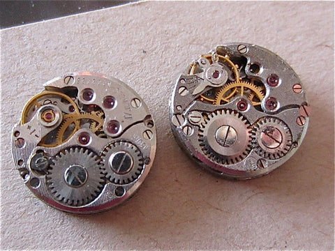 Steampunk Earrings - Orbit  -  Steampunk Jewelry made with real vintage watch parts