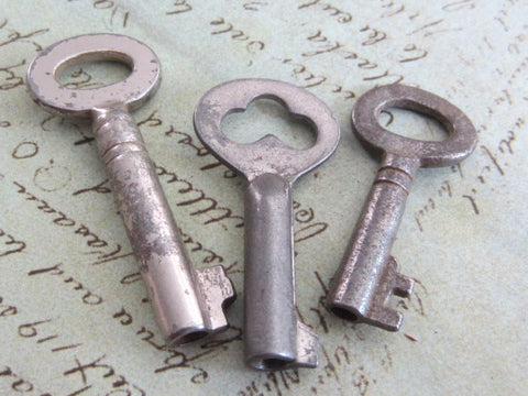 Skeleton Keys - Vintage Antique keys-  Barrel keys - P21