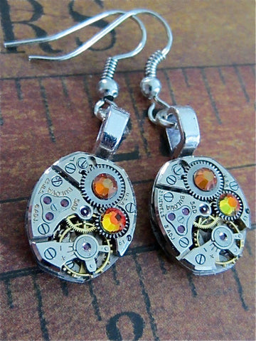Steampunk ear gear - Cathedral - Steampunk Earrings