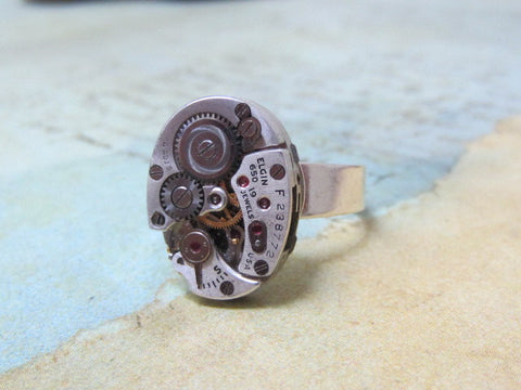 Steampunk Jewerly - Back in time - Steampunk Ring