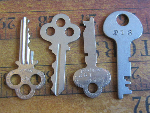 vintage Keys - Vintage Antique keys - Barrel keys - w5