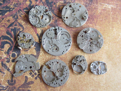 Watch parts - Vintage Antique Watch movements - v4