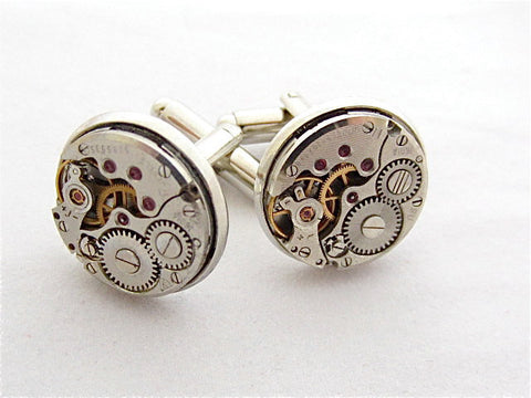 Wedding cufflinks - Watch movements - Steampunk - Cuff Links