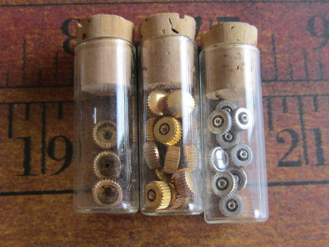 Watch Vials - Glass bottles-  Vintage - t22