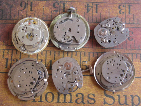 Vintage Antique Watch movements parts - e25
