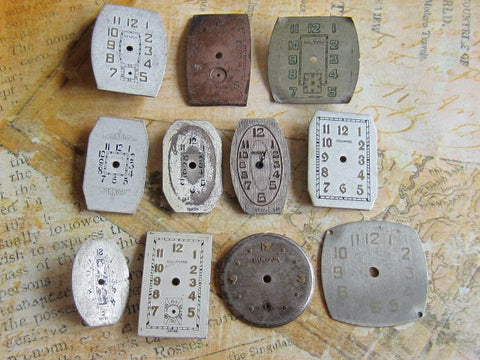 Vintage Antique Watch  Assortment Faces - d57