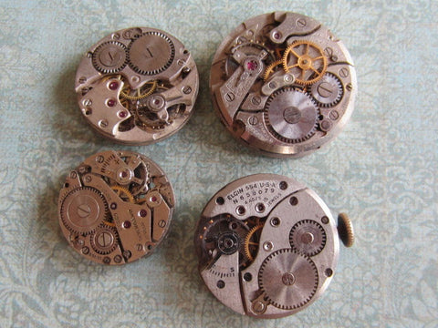 Watch movements - Vintage Antique Watch movements - t73