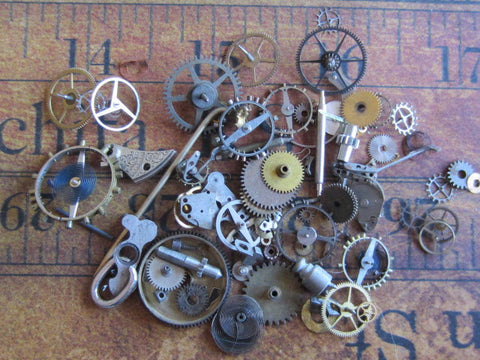 Vintage WATCH PARTS gears - h94 - Listing is for all the watch parts seen in photos