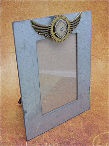 Steampunk Frame - A Moment in Time - Upcycled - Steampunk Picture Frame - by SteampunkJunq - Great Gift or Stocking stuffer