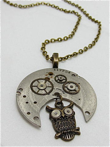 Steampunk watch parts pendant - Special time - Steampunk  Necklace,Pendant , Handmade jewelry made with real Pocket watch and watch parts