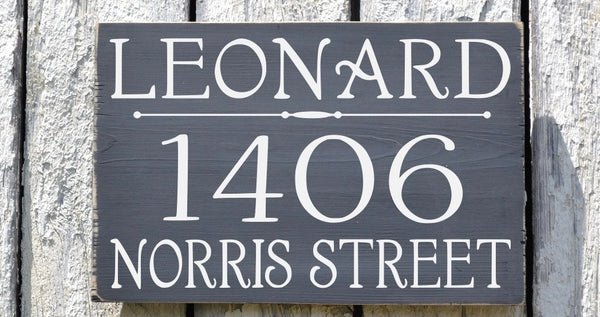 Personalized Address Signs, Custom House Numbers For Outdoor, Rustic Wood Address Plaques