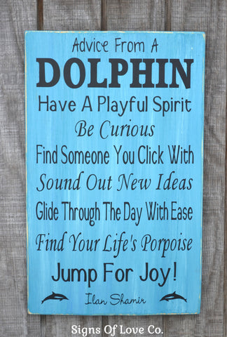 #beach #decor #dolphin #ocean #sign #advice #froma #dolphin #rules  #carova #crafts #etsy