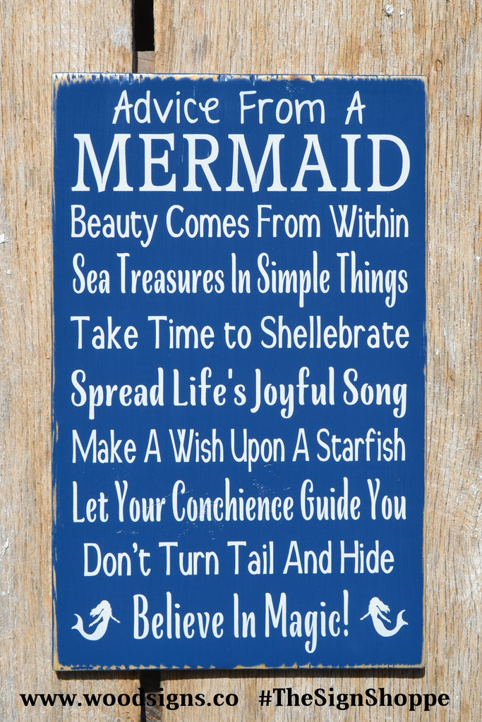 Custom Wood Beach Decor Ocean Wood Sign Girls Nautical Nursery Bedroom