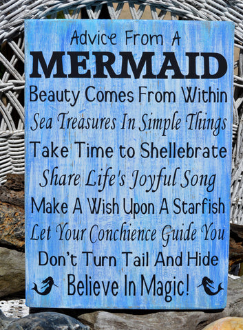 Advice From A Mermaid Signs - The Sign Shoppe