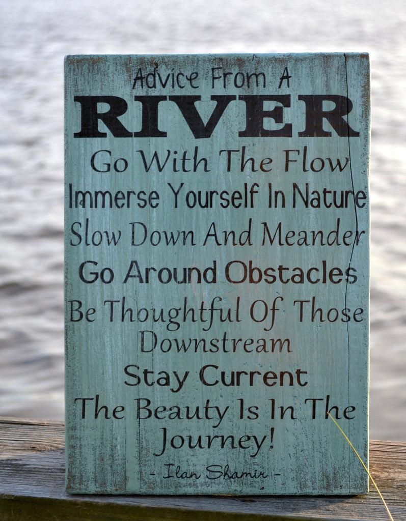 River Home Decor, Advice River Wood Sign, 18x12 Painted Wood Sign, Home Decor, Wall Hanging, Wooden Sign, Cabin, Cottage