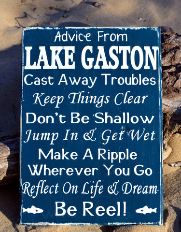 Advice From A Lake Sign - Lake House Decor, 18x12, Lake Wall Art Plaque - The Sign Shoppe