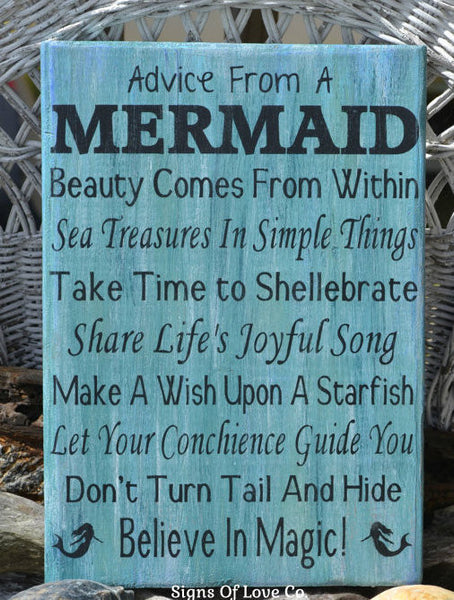 #mermaids #decor #beach #sign #advice #froma #mermaid #carova #crafts