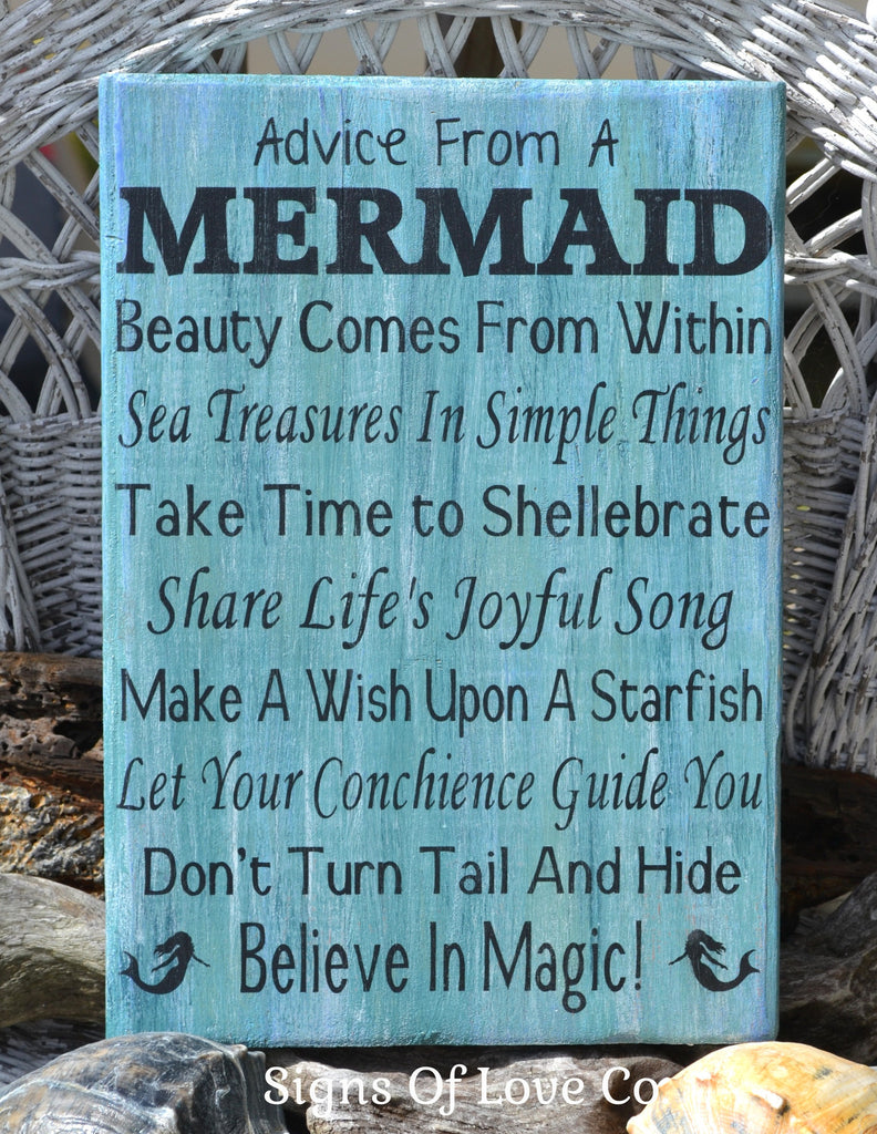 #advicefrom #mermaids  #advicefromamermaid #beach #decor #sign #etsy
