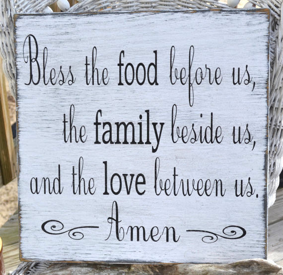 Wedding Gift Thanksgiving Christmas House Warming Bless The Food Religious Scripture Blessing Signs Carova Beach Crafts