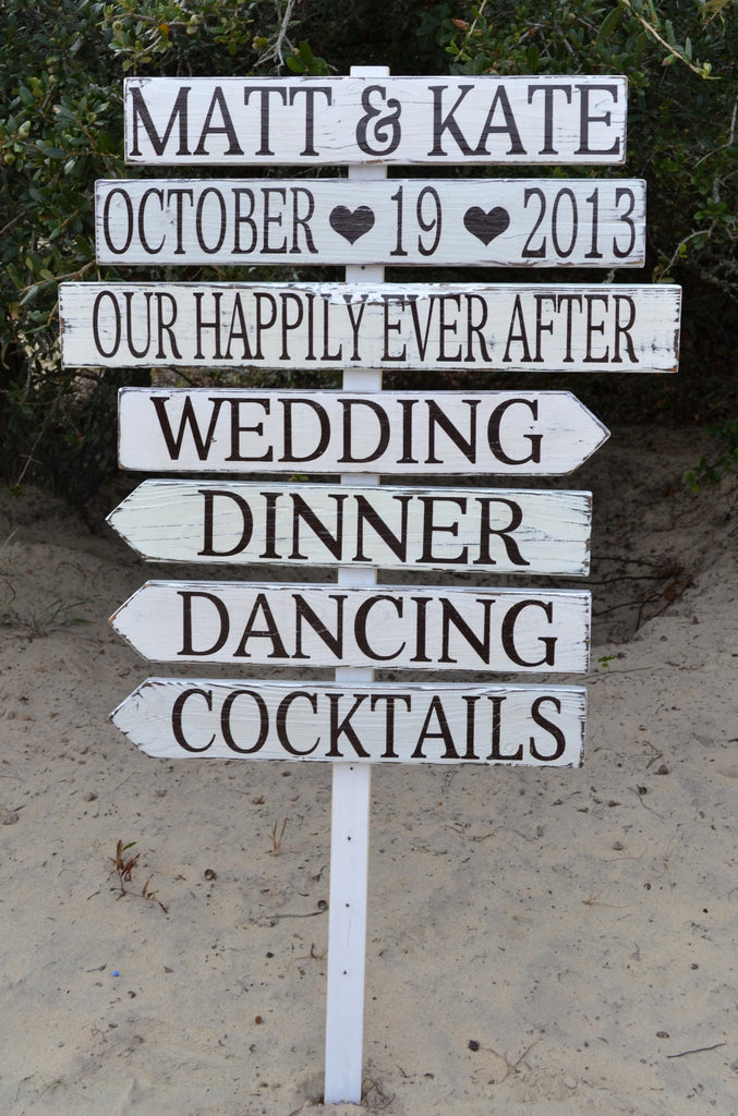 Directional Wedding Signs Custom Made Make Design Your Own Rustic Wedding Signs Personalized Arrow Reception Lawn Games Ceremony I Dos  Direction Outdoor Stake