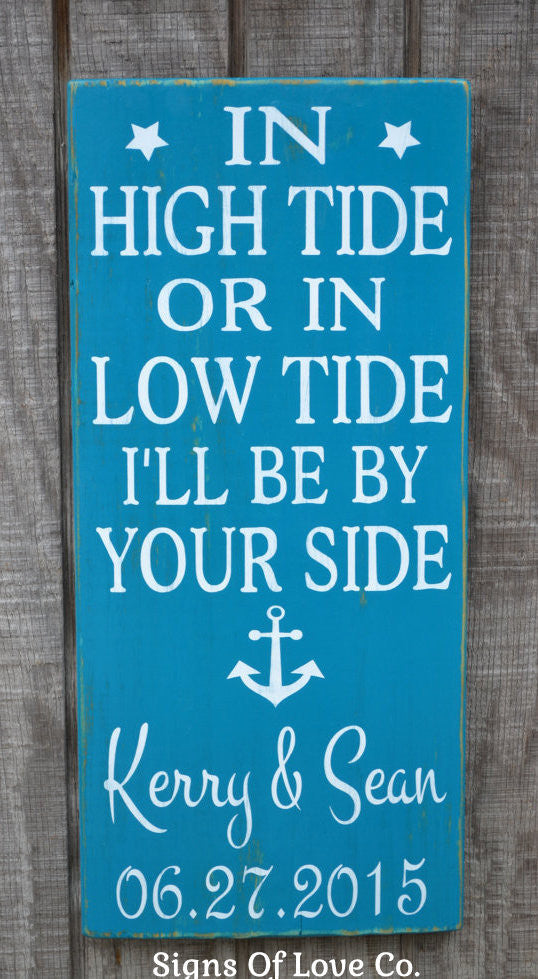 In High Tide Or Low Tide I'll Be By Your Side #inhightide #lowtide
