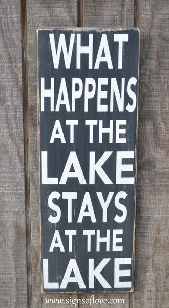Home Lake Quote Sign Lake House Decor Custom Wood Sign What