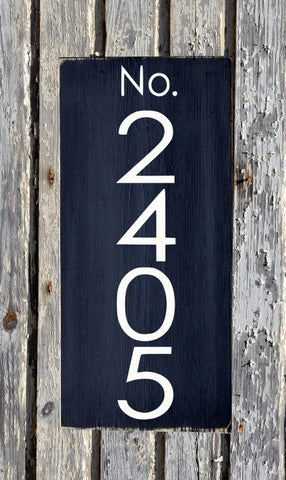 Address Sign Modern House Numbers Signs Outdoor Plaques Industrial Personalized Number Signs