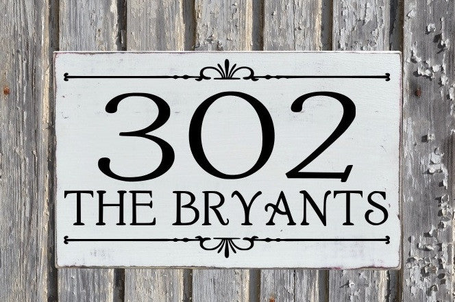 Large House Numbers Sign Outdoor Address Plaque Personalized Wood Home Number Signs