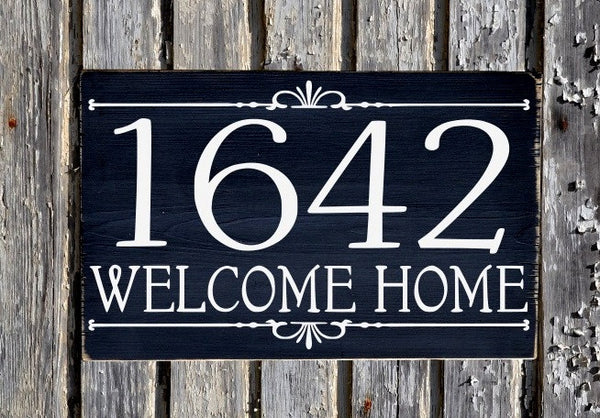 Address House Numbers Sign Outdoor Plaques Personalized Wooden Number Signs Outdoors Exterior Wall Art Address Plates