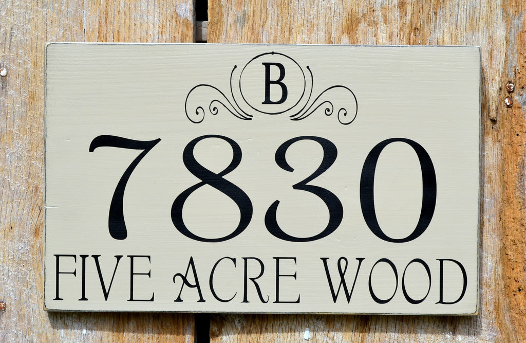 Custom Address House Plaques Porches Personalized Wooden Number Signs Outdoors Exterior Wall Art Address Plates
