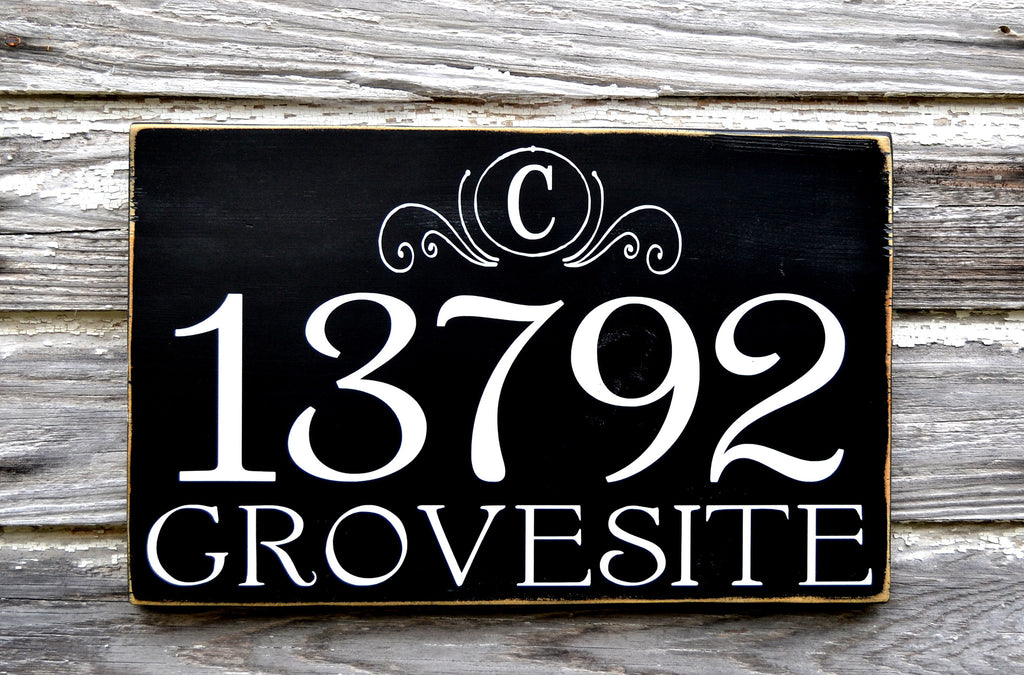 Address Plaques Outdoor House Numbers Sign Monogram Personalized Family - The Sign Shoppe - 1