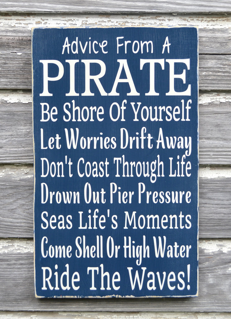 Nautical Nursery Decor Advice From A Pirate Beach Sign Kids Pirate Themed Room Decor Children's Wall Art